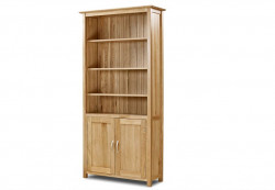 Cambridge Solid Oak Bookcase With Cupboard