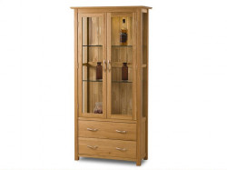 Cambridge Solid Oak Display Cabinet