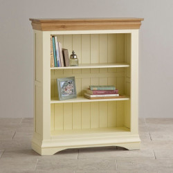 French Cottage Natural Oak and Painted Small Bookcase