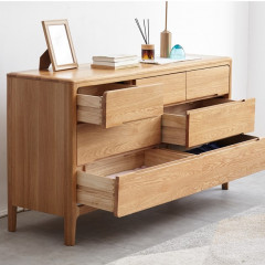 Seattle Natural Solid Oak 3+4 Chest of Drawers