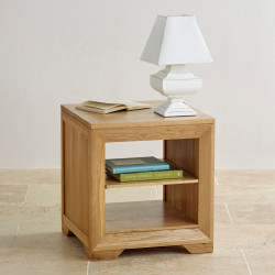 Chamfer Shelf Lamp Table