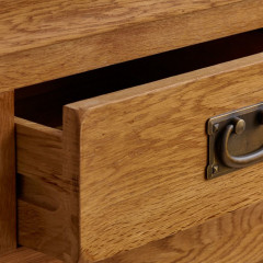 0French Rustic Solid Oak 5 Drawers Wellington