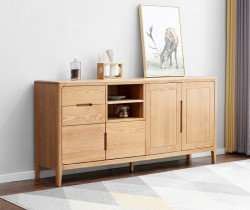Seattle Natural Solid Oak Large Sideboard