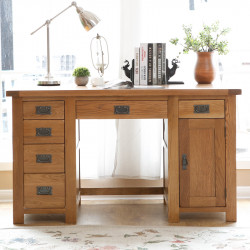 Original Country Oak Study Desk