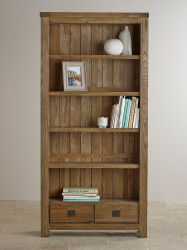 York Solid Oak Large Bookcase