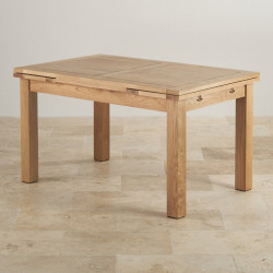 Chamfer 140 Natural Oak Extending Dining Table