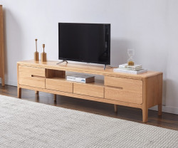 Seattle Natural Solid Oak Large Entertainment Unit