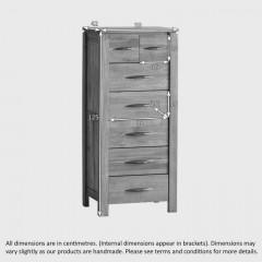 Osaka 2 Over 5 Drawers Tallboy