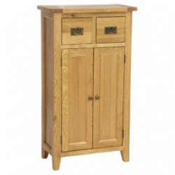 Original Country Oak Shoe Cabinet