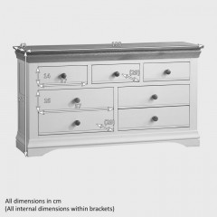 French Cottage Natural Oak and Painted 3+4 Chest of Drawers