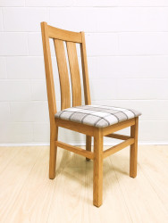 Chamfer Solid OAK Dining Chair Fabric Pad