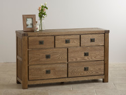 York Solid Oak 3+4 Chest of Drawers