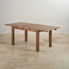 French Rustic Solid Oak Extendable Dining Table