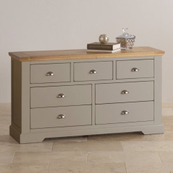 St John's Natural Oak and Light Grey Painted 3+4 Drawer Chest