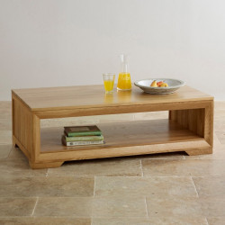 Chamfer Natural Solid Oak Coffee Table