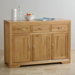 Chamfer Natural Solid Oak Large Sideboard